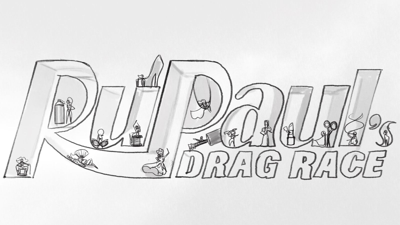 Ru Paul Drag Race Logo by Mike DeWeese