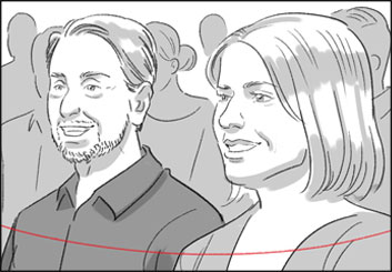 Anuj Shrestha's People - B&W Tone storyboard art