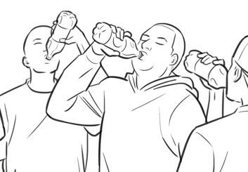 Anuj Shrestha's People - B&W Line storyboard art