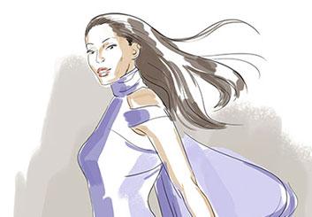 Anuj Shrestha's Beauty / Fashion storyboard art