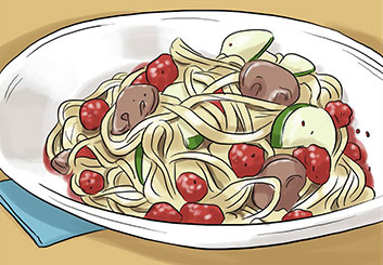 Anuj Shrestha's Food storyboard art