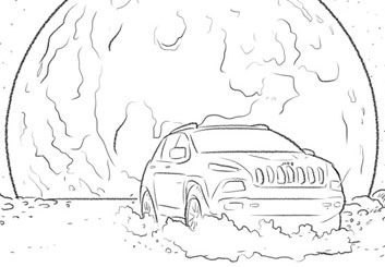 Anuj Shrestha's Vehicles storyboard art