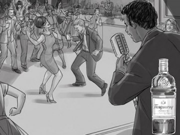Michael Lee's People - B&W Tone storyboard art