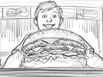 Michael Lee's Food storyboard art