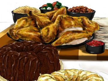 Michael Lee's Food storyboard art