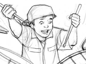 Michael Lee's Kids storyboard art