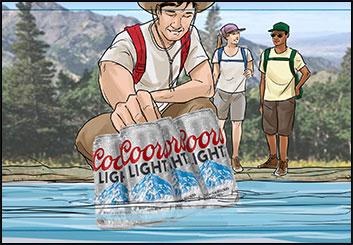 Michael Lee's People - Color  storyboard art