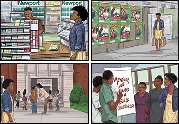 Michael Lee's People - Color  storyboard art