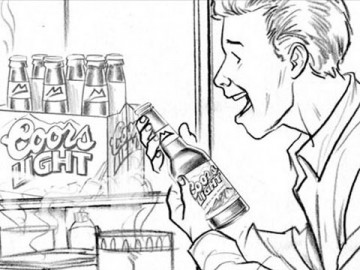 Michael Lee's Products storyboard art