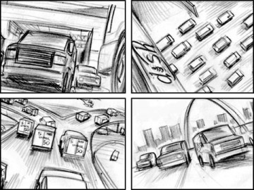 Michael Lee's Vehicles storyboard art