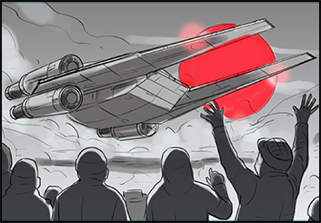 Michael Lee's Action storyboard art