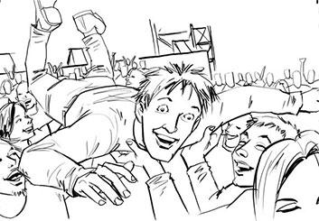 Nob Yamashita's People - B&W Line storyboard art