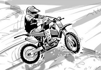 Nob Yamashita's Action storyboard art