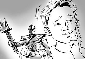 Nob Yamashita's Kids storyboard art