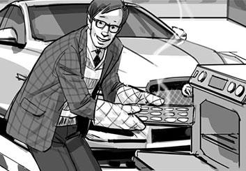 Nob Yamashita's People - B&W Tone storyboard art