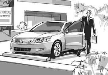 Nob Yamashita's Shooting Vehicles storyboard art