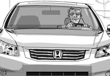 Nob Yamashita's Vehicles storyboard art