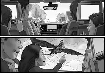 Paul Binkley's People - B&W Tone storyboard art