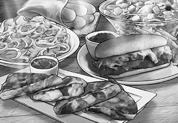 Paul Binkley's Food storyboard art