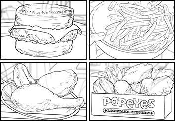 Paul Binkley's Food storyboard art