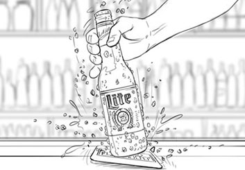 Paul Binkley's Liquids storyboard art