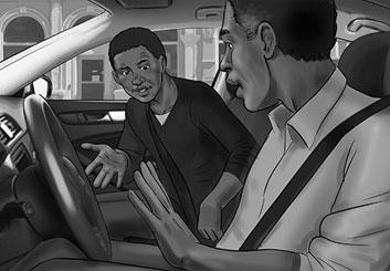 Paul Binkley's People - B&W Tone storyboard art