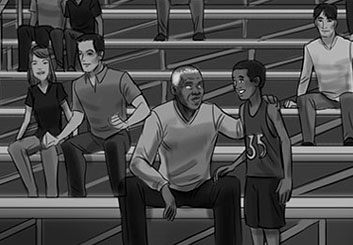 Paul Binkley's Sports storyboard art