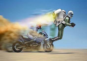 Paul Binkley's Vehicles storyboard art