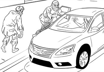 Paul Binkley's Vehicles storyboard art