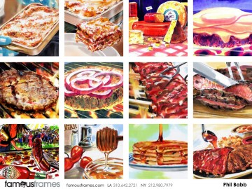 Phil Babb's Food storyboard art