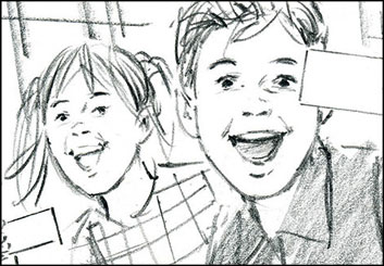Phil Babb's Kids storyboard art