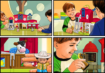 Phil Babb's Kids storyboard art