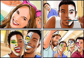 Phil Babb's People - Color  storyboard art