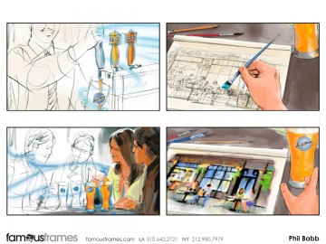Phil Babb's Products storyboard art
