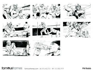 Phil Babb's Sports storyboard art