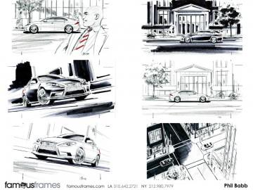 Phil Babb's Vehicles storyboard art