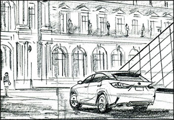 Phil Babb's Vehicles storyboard art