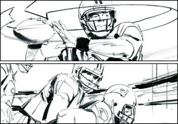 Phil Babb's Sports storyboard art