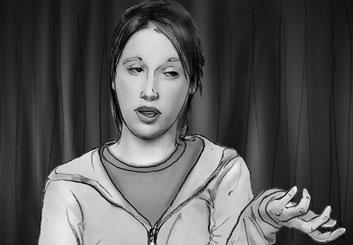 Philippe Collot*'s People - B&W Tone storyboard art