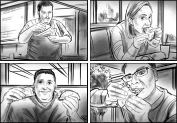 Philippe Collot*'s People - B&W Tone storyboard art