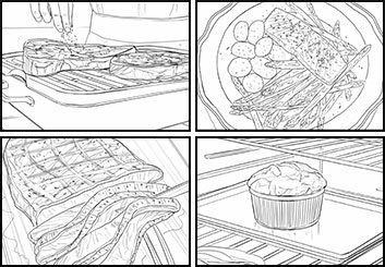 Philippe Collot*'s Food storyboard art