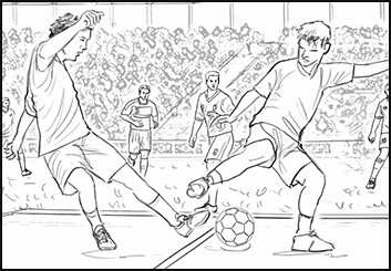 Philippe Collot*'s Sports storyboard art