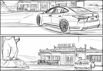 Philippe Collot*'s Shooting Vehicles storyboard art
