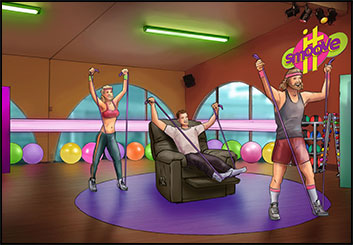 Philippe Collot*'s Set Rendering  storyboard art