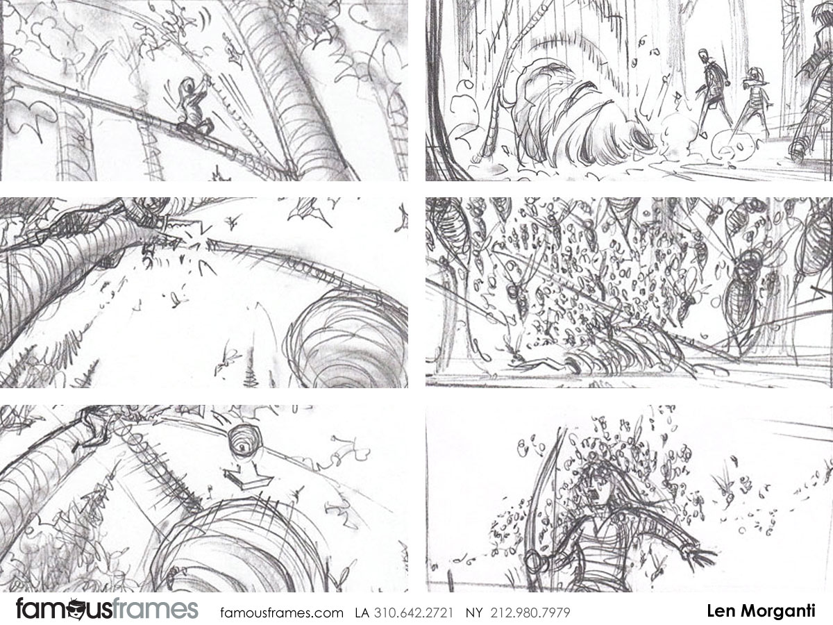 Hunger Games - Len Morganti\'s storyboard art | Famous Work