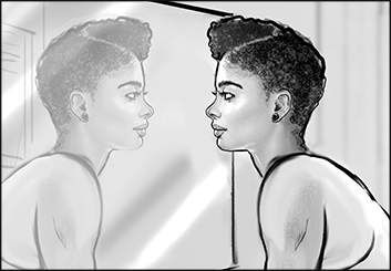 Renee Reeser's People - B&W Tone storyboard art