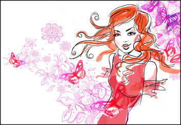 Renee Reeser's Beauty / Fashion storyboard art