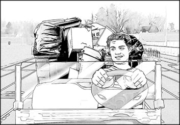 Robert Kalafut*'s People - B&W Line storyboard art