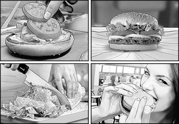 Robert Kalafut*'s Food storyboard art