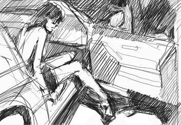 Ruben Sarkissian's Vehicles storyboard art